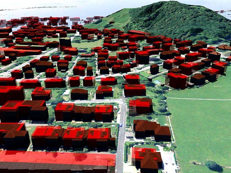 Vermessung und Geomatik: 3D Stadt- und Landschaftsmodell zur Stadtplanung