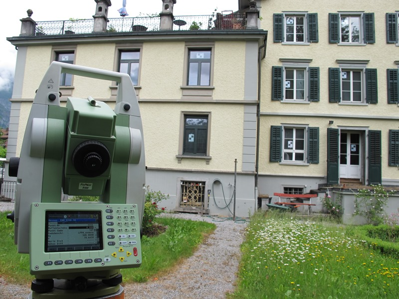 Vermessung und Geomatik: Einmessung von Zielmarken und Detailpunkten