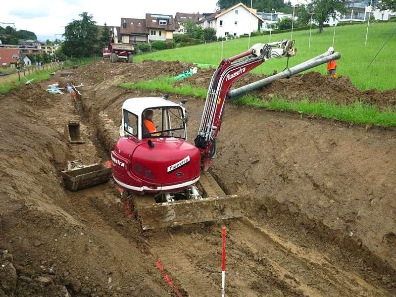 Bauingenieurwesen und Vermessung: Planung und Bauleitung von Erschliessungen (Wilen, Kaltbrunn)