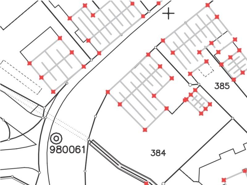 Vermessung und Geomatik: Höhenkotenplan einer Dachlandschaft