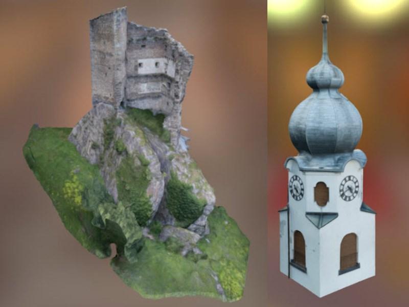 Vermessung und Geomatik:3D-Visualiserung aus Drohnenvermessung