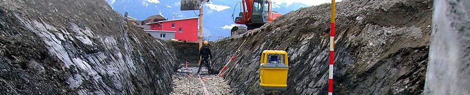 Geometer, Vermessung, Geomatik: Bauingenieurwesen im Tiefbau für Erschliessungen
