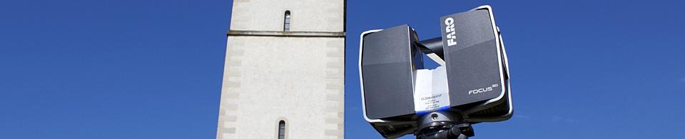Geometer, Vermessung, Geomatik: Laserscanner in der Architekturvermessung